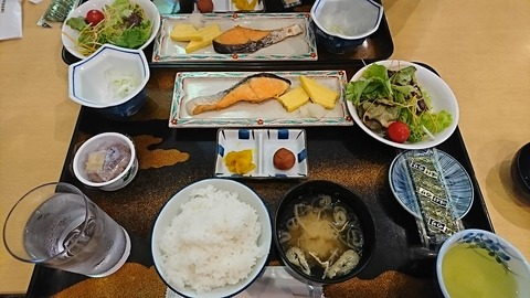 銚子プラザホテル:①和朝食180825