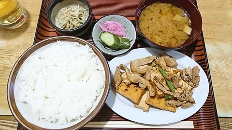 常盤仙食堂:①日替り定食580円171206