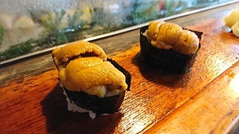 常寿司:①雲丹軍艦180701