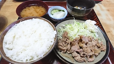 常盤仙食堂:①日替り定食580円180627