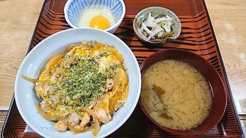 常盤仙食堂:①親子丼生たまご190617