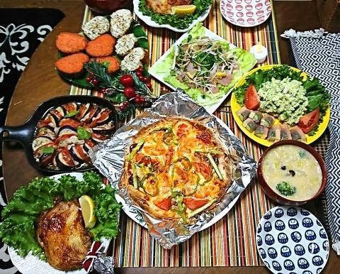家ご飯1:①肴7品201224