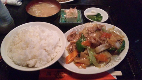 鳳来:①肉うま煮定食670円161107