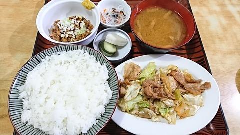 常盤仙食堂:①日替り定食580納豆80円170814