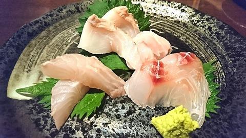 赤兵衛:⑤白身魚3種盛り750円190516