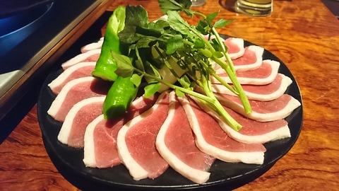 風雅:①鴨ロース肉陶板焼き171130