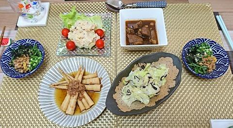 家ご飯17:①肴5品210817