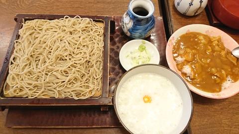 寿々喜:⑥トロロソバ700ミニカレ丼300円190804