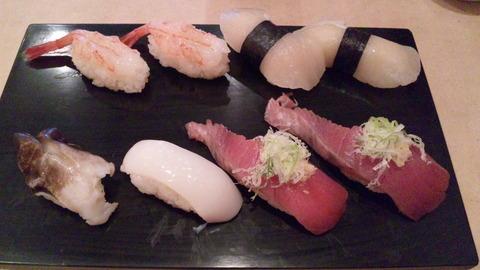 寿司幸:②〆の寿司三皿目130324
