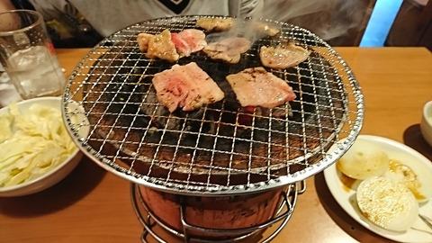 牛繁:01昼食放お通し焼く180321