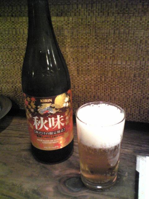 アジアン本舗餃子:⑥瓶ビール500円100906