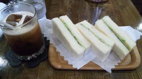 しゃん:①アイスコーヒー500海苔トースト500全151123