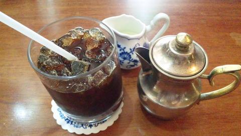 こきりこ:②セットのアイスコーヒー拡大150426