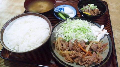 常盤仙食堂:①日替り定食580納豆全160715