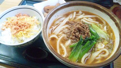 四ツ木製麺所:①E定食750円161016