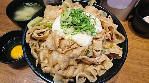 すた丼屋:①とろすた丼750肉飯増し250円170827