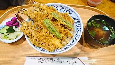 十和田:①天然えび天丼1500円180811