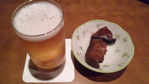 ドラゴンゲート:①瓶ビール650円お通し130315