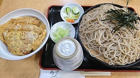 白樺:⑨カツ丼セット920ソバ大盛150円190618