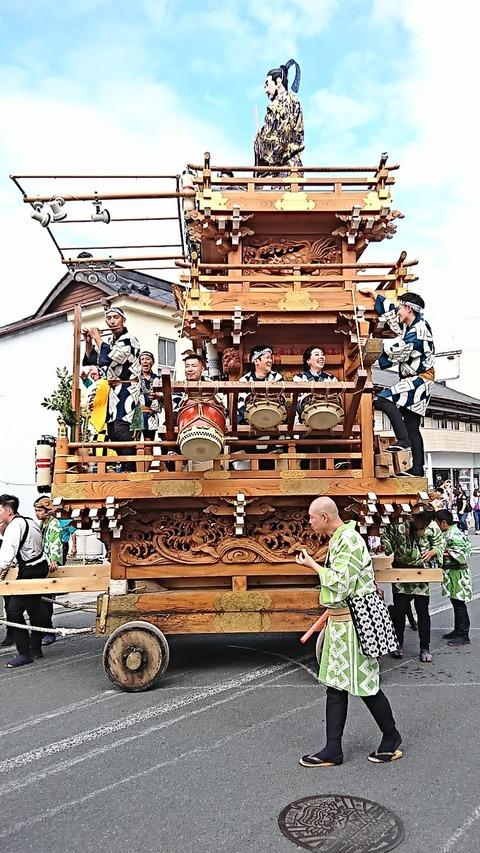 石岡山車15香丸町お囃子190914