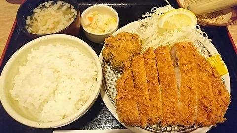有馬:①リブロースカツ定食1880円190509
