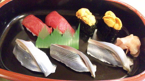 三松寿司:①小肌3赤身2雲丹2150315