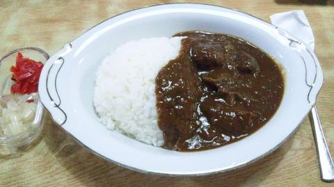 常盤仙食堂:①カレーライス600円150812