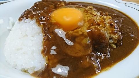 常盤仙食堂:⑦生卵を掛けて181121