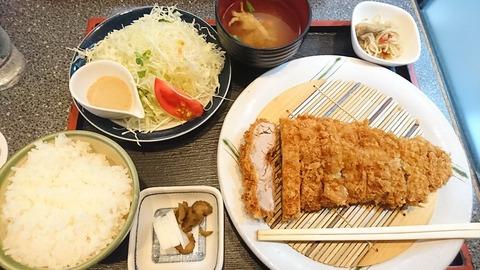 港や:①ヒレノジャンボ定食1850円180929