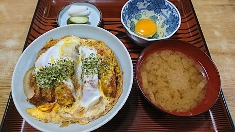 常盤仙食堂:①カツ丼700生卵70円190711