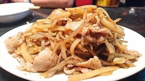 鳳来:⑤豚肉タケノコトゴボウノ炒メ730円181018