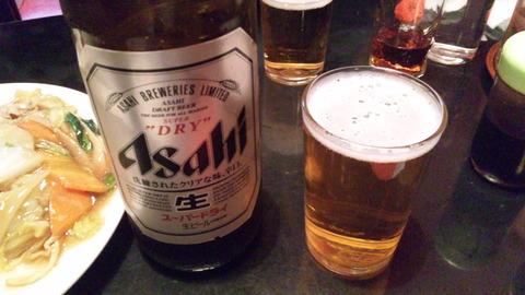 鳳来:④大瓶ビール550円150409