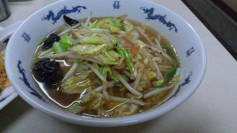 昇龍:③野菜ラーメン600円全景110406