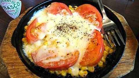 つよし:①鉄板トマトチーズ焼き380円180902