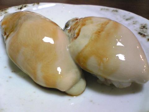 寿司いさりび:⑨三陸産生牡蠣昆布〆300円101023