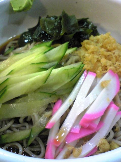 嵯峨野:②冷したぬき蕎麦拡大100917