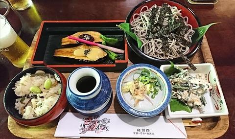 雍州路:①雲珠とろろそば1620山菜おこわ300円170805