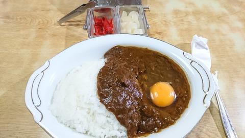 常盤仙食堂:①カレーライス600生たまご70円170605