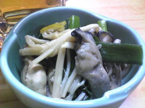 だいこく屋:②お通しの牡蠣の煮物101027