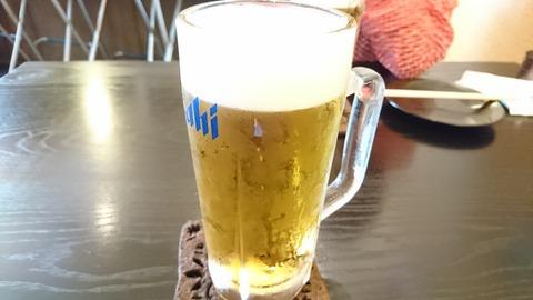 上木屋:②生ビール350円170624