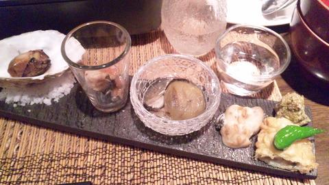 うらら:①牡蠣八寸全景160311