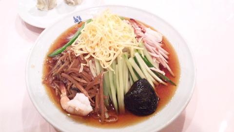 揚子江菜館:①五色涼はん麺1470全景110828