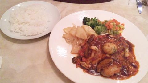 さんばん:①若鶏ソテーマレンゴ風900飯200全160816
