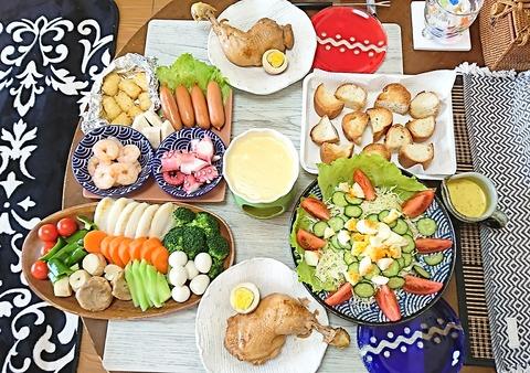 家ご飯8:①肴3品201220