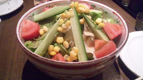 じんざえ門別館:⑤野菜サラダ410円131108