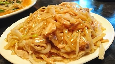 鳳来:⑦白菜豚肉細切リ炒メ680円190902
