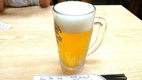 尾張屋:②中生ビール500円191002