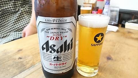 一力:②大瓶ビール380円190930