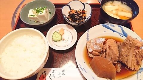 三楽:①まぐろ煮付け定食930円190202