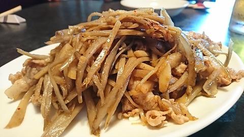 鳳来:③豚肉タケノコゴボウ炒メ730円190902